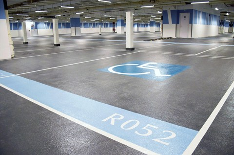 High End Office Installs High Performance Car Park Coating