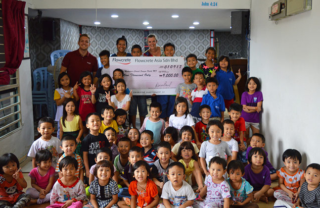 Flowcrete Donates to School for Myanmar Refugees