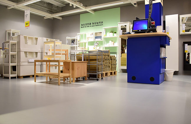 IKEA's New Hong Store Furnished with Flowcrete Flooring