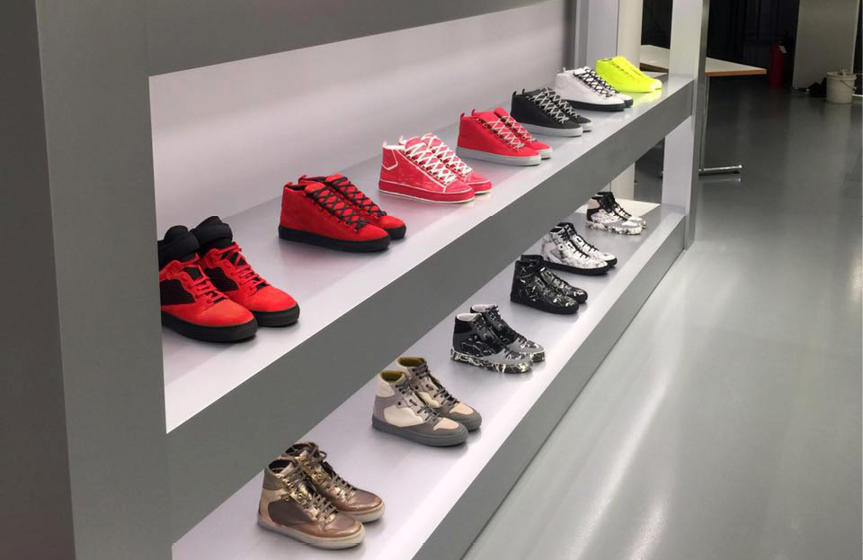 Flowcoat SF41 installed at Balenciaga Outlet Store