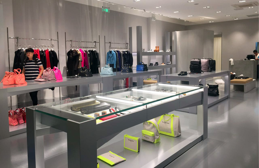 Flowcoat HTS and Flowcrete SF41 installed at Balenciaga Outlet Store