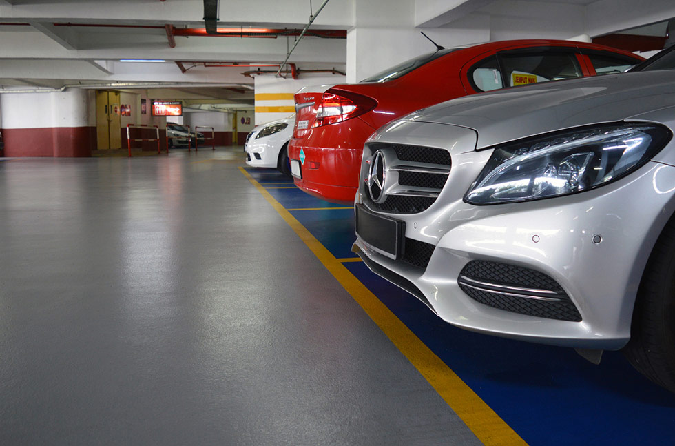 Car Park Protection Flowcrete Asia