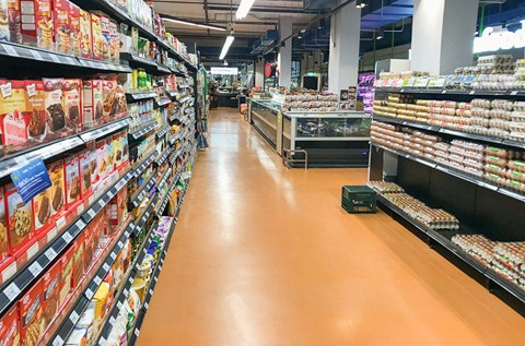 Flowcrete Asia Creates Old-World Feel in New Village Grocer