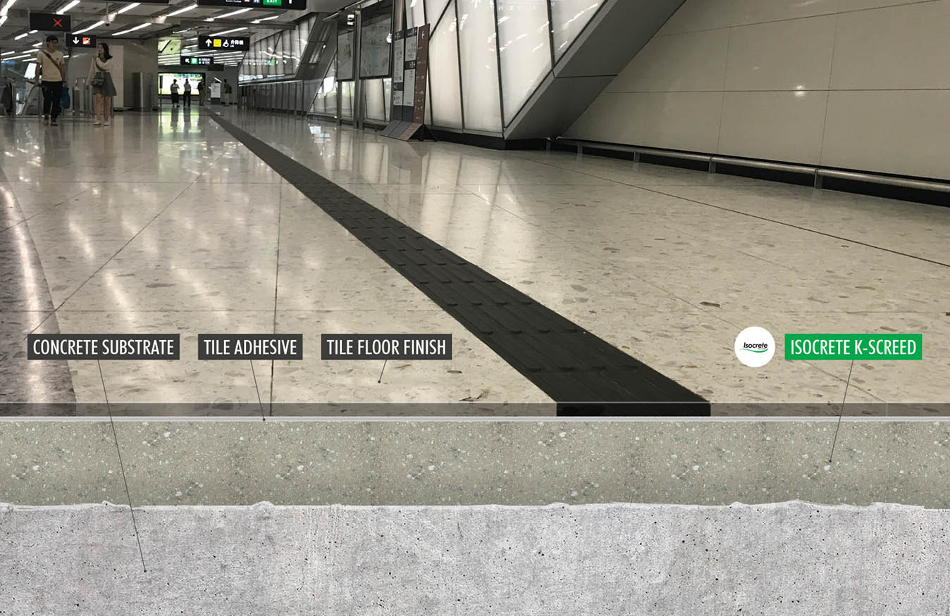 Underground Rail Station Flooring