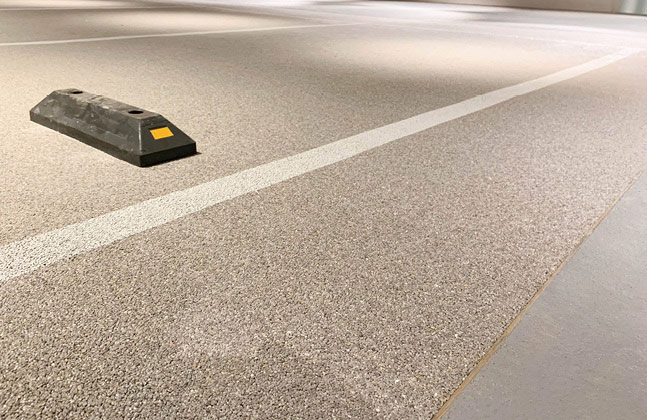 The Deckshield range was chosen for the anticipated high level of traffic in the car park
