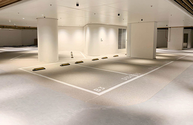 New World Development has launched the first phase of its Victoria Dockside district and called upon Flowcrete Hong Kong to supply flooring solutions