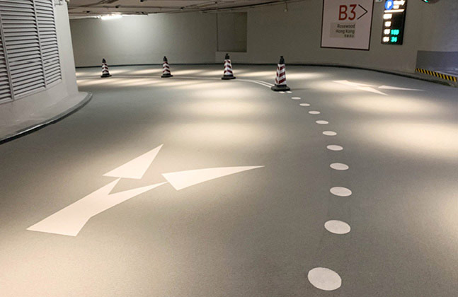 Over 30,000 m2 of high performance flooring solutions were used throughout the car park