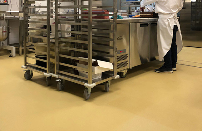 A flooring solution was required that could meet the demands of a bustling food preparation environment, whilst maintaining the standards expected by both the staff and the guests.