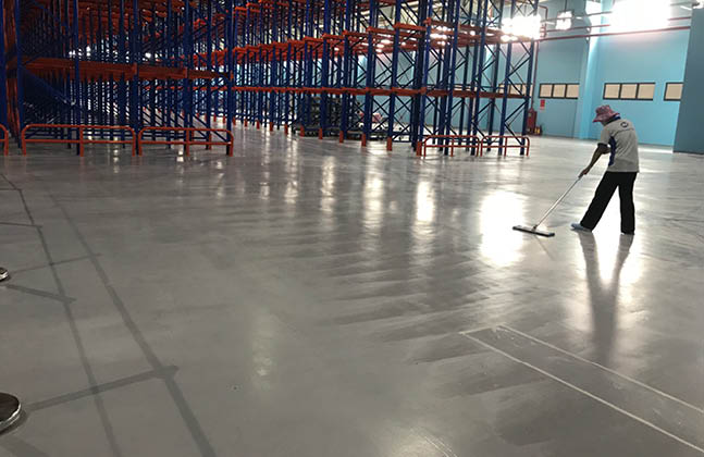10,193 m2 of Flowcoat HTS was applied in Satori Water's warehouse