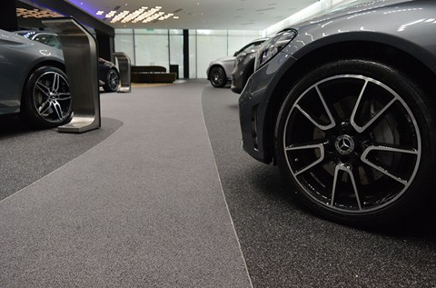 Cycle and Carriage Showroom Showcases Flowcrete Flooring Solutions
