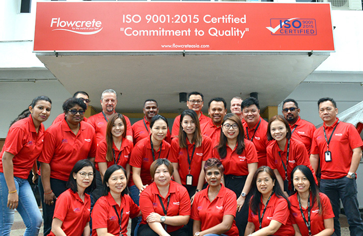 Flowcrete Asia Awarded ISO 9001:2015 Quality Management Certification