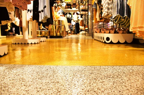 Monki Strikes Gold with its Flowcrete Floor