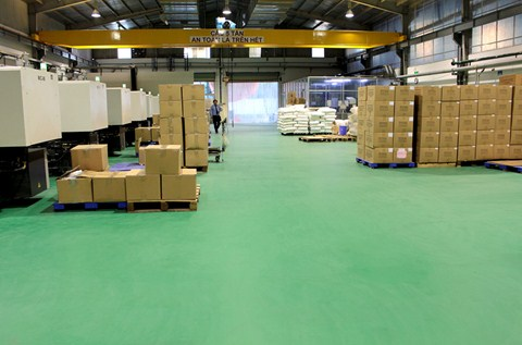 Lion Vietnam Upgrades its Flooring to Meet US Standards