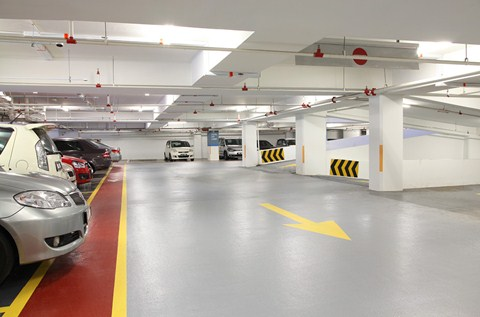 Bright Car Park Decking for Hip New Hotel in KL