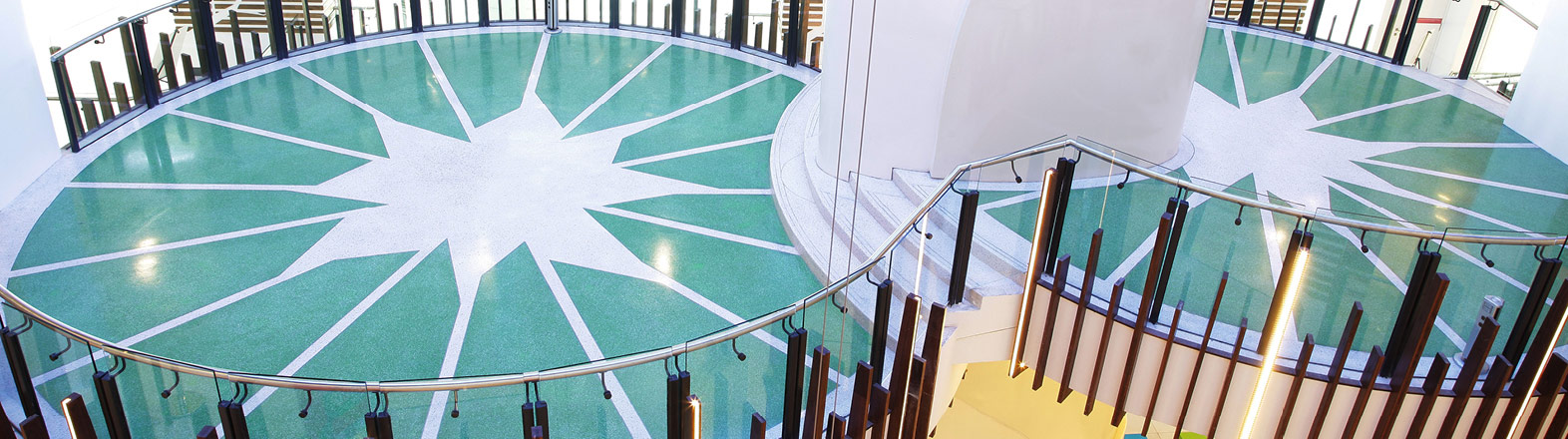 Decorative Flooring Solutions for  Commercial and Public Facilities