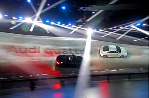 Flowcrete China Creates Complex Car Track for Audi TT Press Conference