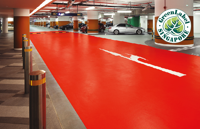 Green Label Stamp of Approval for Flowcrete's Traffic Deck Coatings