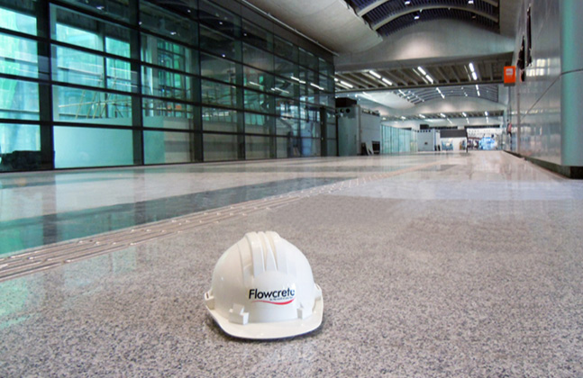 Flowcrete Flooring At Hong Kong Airport