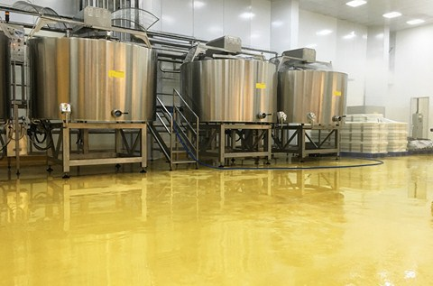 High-Tech Milk Plant Installs High Performance Floors