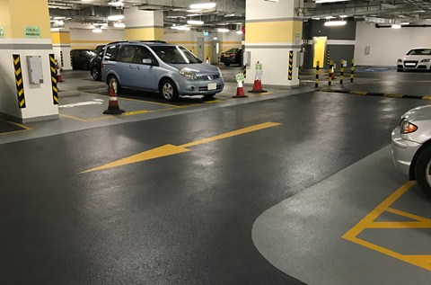 Specialist Resins Protect Basement Level Car Park Floor